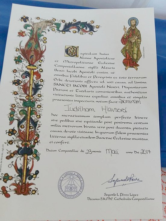 Pouť do Santiaga de Compostela podnikla Jitka Hlavsová z Lokte už podruhé.