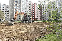 Stavba hřiště na Vítězné začala.