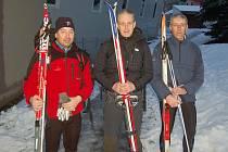 Stanislav Patrovský, Antonín Veverka a Míroslav Mádl (zleva) před startem.