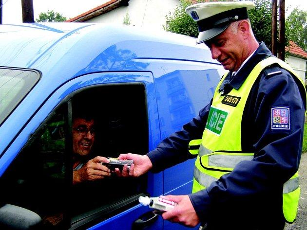Policejní akce s BESIP.