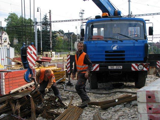 Přestavba sokolovského vlakového nádraží.