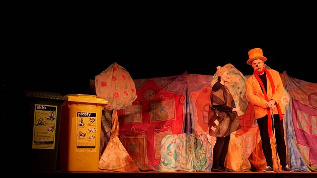 V Kraslicích herci odehráli dvě představení.