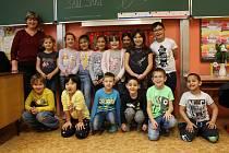 Děti Z 1.A ZŠ Křižíkova Sokolov s třídní učitelkou Světlanou Tothovou.
