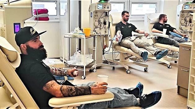 Hokejisté Baníku darovali krevní plazmu