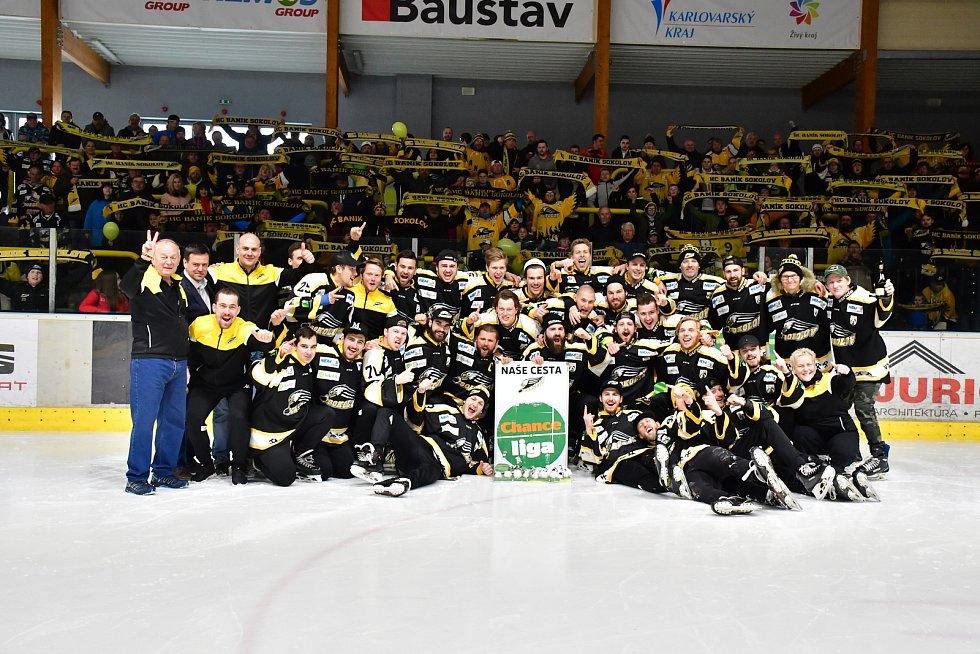 V Sokolově se slaví postup hokejového Baníku do první ligy