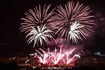 Hurá prázdniny 2014 - Vítěz soutěže ohňostrojů Makalu Fireworks.