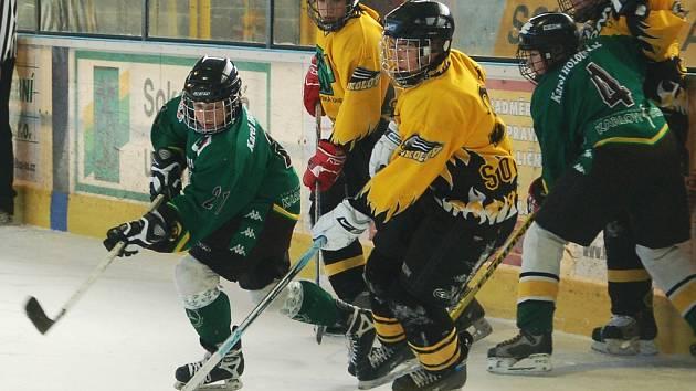Ilustrační foto ze zápasu sedmých tříd HC Baník Sokolov - Energie Karlovy Vary