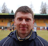 Trenér fotbalistů Baníku Sokolov Martin Hašek.
