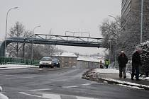 Most přes Ohři v sokolovské ulici Jednoty