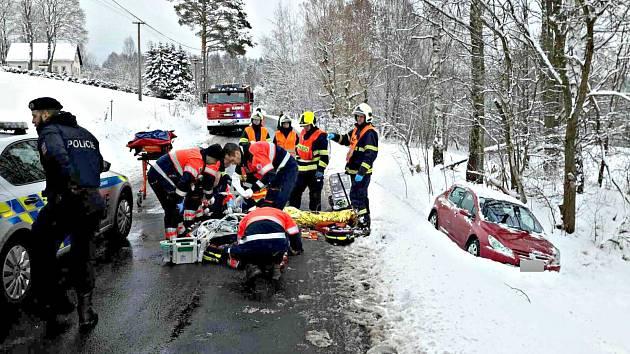 Dopravní nehoda ve Smolné