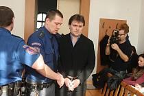Petr Wilfer u soudu v Plzni.