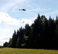 Vrtulníky budou vápnit lesy až do konce srpna.
