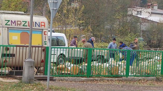 Pracovníci Kraslické městské společnosti ještě zlikvidovali vzrostlé břízy v místě, kde by v samém centru města měl vzniknout odpočinkový park.