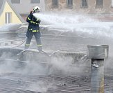 Požár lakovny ve Svatavě.