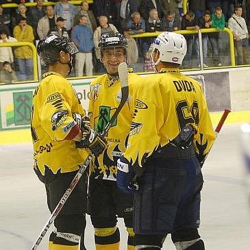 Zleva: Jakub Kořínek, Ladislav Veverka a radek Duda