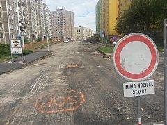 Sokolovská ulice Spartakiádní projde rekonstrukcí