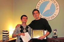 Čeští novináři Kristián Šujan a Milan Hloušek (zleva) ve Varšavě.