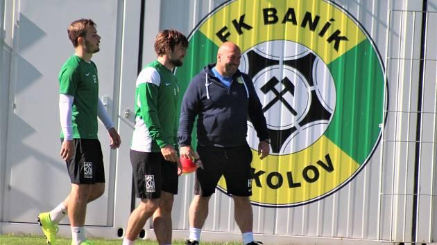 Trénink fotbalistů Baníku Sokolov