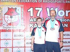Blanka Adámková a Miroslav Vlach v Kazachstánu