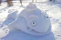 Sněhové sochy na Bublavě.