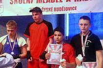 Michal Matějovič (zcela vpravo) bral bronzovou medaili mezi kadety do 70 kilogramů