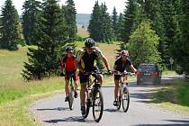 Cyklisté v horské Přebuzi