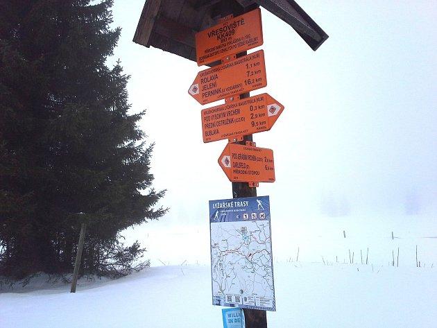 Běžecké trasy jsou čerstvě upraveny.