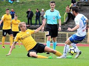 Fotbalisté druholigového Baníku Sokolov v nedělním utkání 7. kola Fortuna národní ligy prohráli