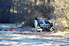 Silně opilá řidička havarovala v sobotu za Kraslicemi.