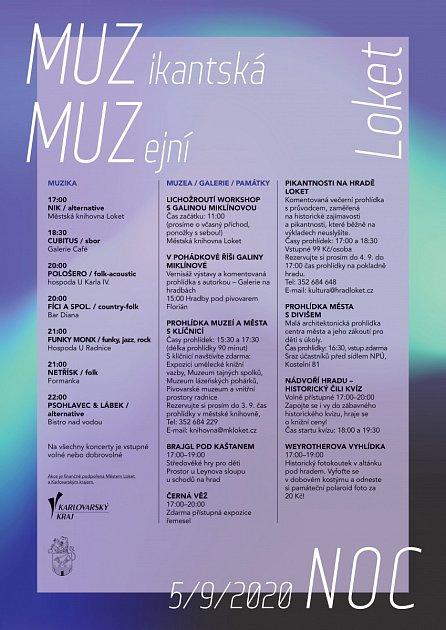 Muzikantská a muzejní noc vLokti.