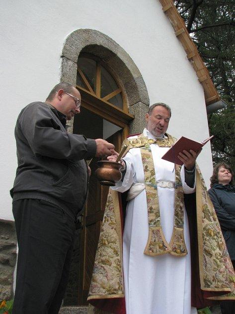 Svěcení kaple v Kamenici.