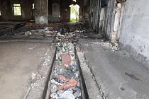 Bývalé železniční depo v Sokolově