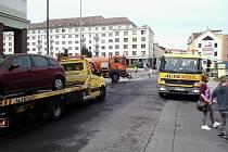 Blokové čištění ulic v Sokolově