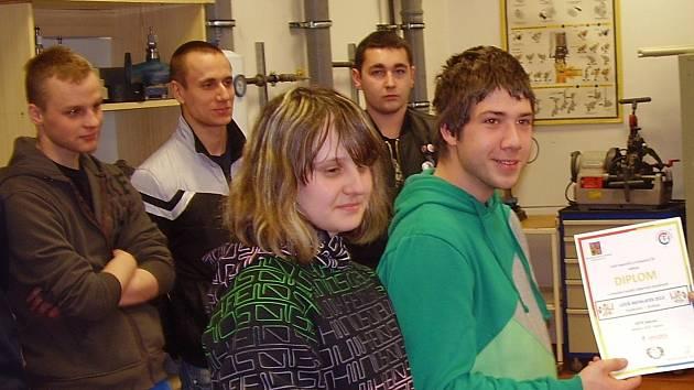 Vítězné družstvo sokolovské ISŠTE