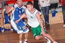 II. basketbalová liga: BK Sokolov (v zeleno - bílém) - BK Kladno