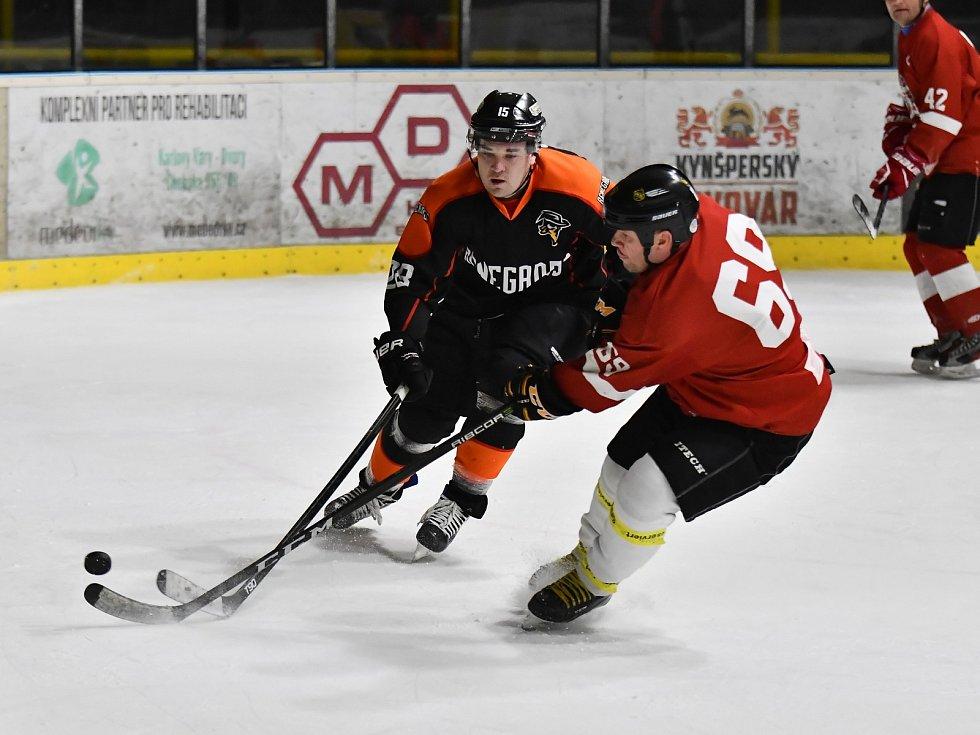 Utkání hokejového Kynšperského poháru HC Renegades - Hellfish Team Cheb.