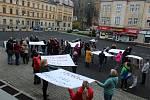 Stávka učitelů v Kraslicích