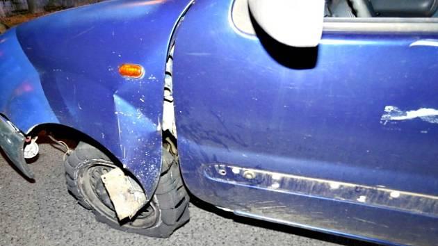 MÍSTO DOPRAVNÍ nehody. Řidič nadýchal 3,21  promile.
