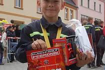 VÍTĚZ nejmladší kategorie Štefan Fuska, který reprezentoval domácí družstvo SDH Sokolov.
