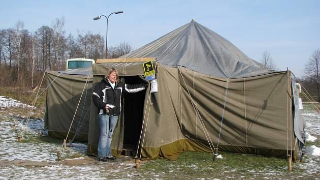 Stan pro lidi bez přístřeší v Sokolově.