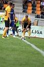 5. kolo FNL, FK Baník Sokolov - FC Vysočina Jihlava (v modrém)