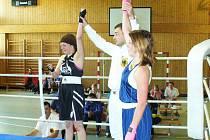 Dáša Nesvadbová (vpravo) na turnaji v Saalfeldu