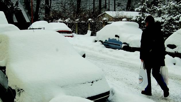 Zima v Kraslicích.