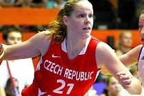 Alena Hanušová v dresu české reprezentace