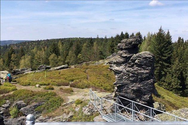 Vyhlídka na vrcholu Vysokého kamene.