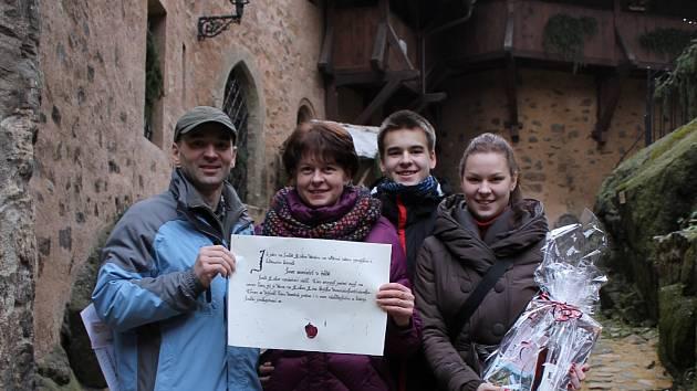 Vladimír Hejrovský s rodinou
