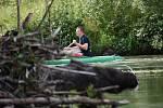 Krejcarová lávka a řeka Ohře