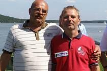Jachtaři Y.C. Nové Sedlo,zleva: Ladislav Mendík a Zdeněk Kacálek