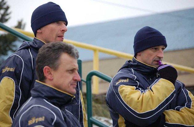 Noví trenéři Baníku, zleva Hašek, Purkart a Jindra.