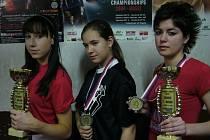 Úspěšné chodovské kickboxerky.